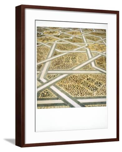 Polaroid Image of Geometric Patterns in Paving at Mausoleum of Mohammed V, Rabat, Morocco-Lee Frost-Framed Art Print