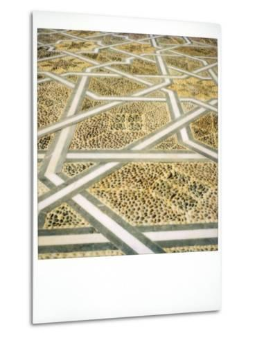 Polaroid Image of Geometric Patterns in Paving at Mausoleum of Mohammed V, Rabat, Morocco-Lee Frost-Metal Print