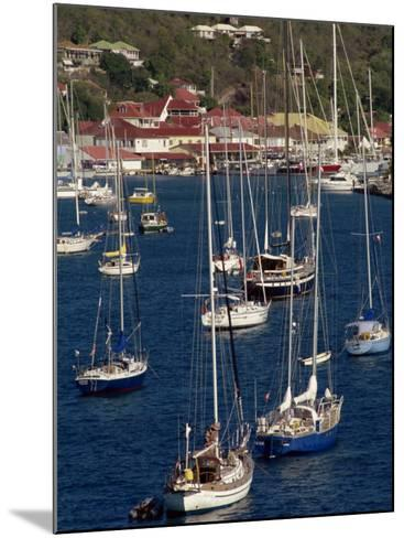 Moored Sailing Boats in Gustavia Harbour, St. Barthelemy, Leeward Islands, West Indies-Ken Gillham-Mounted Photographic Print