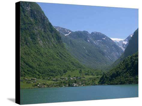Small Settlement Beside a Fjord, Norway, Scandinavia, Europe-Ken Gillham-Stretched Canvas Print