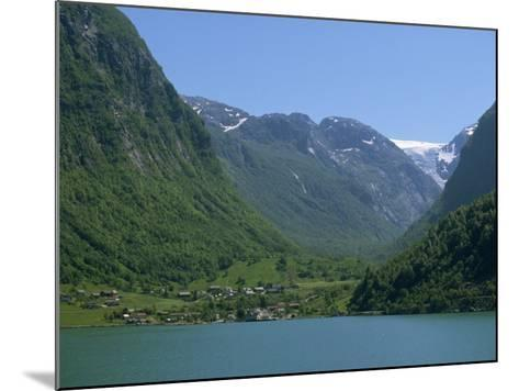 Small Settlement Beside a Fjord, Norway, Scandinavia, Europe-Ken Gillham-Mounted Photographic Print