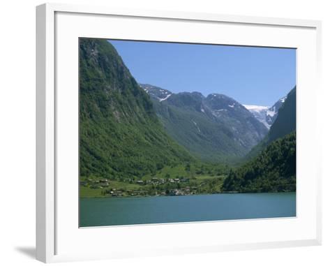 Small Settlement Beside a Fjord, Norway, Scandinavia, Europe-Ken Gillham-Framed Art Print