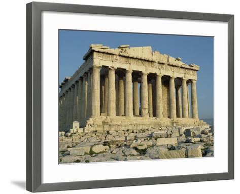 Parthenon, the Acropolis, UNESCO World Heritage Site, Athens, Greece, Europe-James Green-Framed Art Print