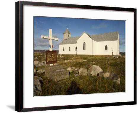 Station of the Cross and Church, St. Pierre Et Miquelon, Isle Aux Marins, Near Newfoundland, Canada-Ken Gillham-Framed Art Print