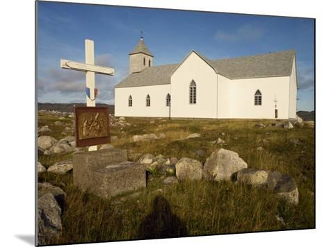 Station of the Cross and Church, St. Pierre Et Miquelon, Isle Aux Marins, Near Newfoundland, Canada-Ken Gillham-Mounted Photographic Print
