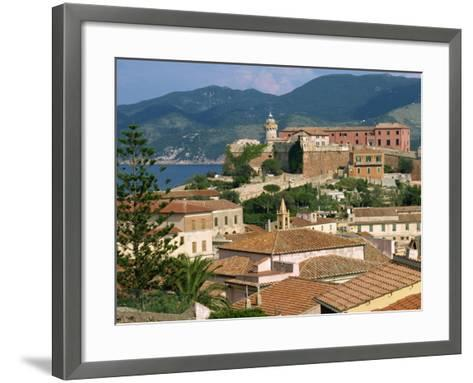 Skyline of the Town on the Island of Elba, in the Toscana Archipelago, Italy, Europe-Ken Gillham-Framed Art Print