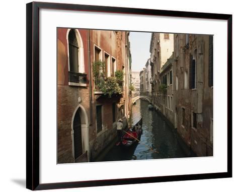 Gondolas on a Canal Near Piazza San Maria Formosa. Venice, Veneto, Italy, Europe-Lee Frost-Framed Art Print