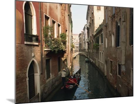 Gondolas on a Canal Near Piazza San Maria Formosa. Venice, Veneto, Italy, Europe-Lee Frost-Mounted Photographic Print