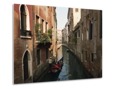 Gondolas on a Canal Near Piazza San Maria Formosa. Venice, Veneto, Italy, Europe-Lee Frost-Metal Print