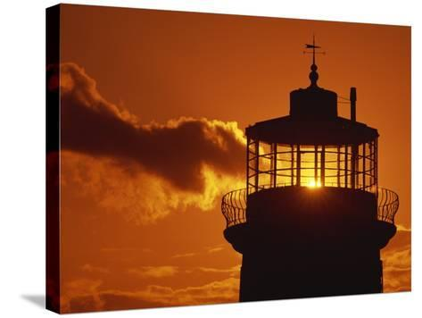 Sun Shining Through Lantern Room of Belle Tout, Beachy Head, Sussex, England, UK-Ian Griffiths-Stretched Canvas Print
