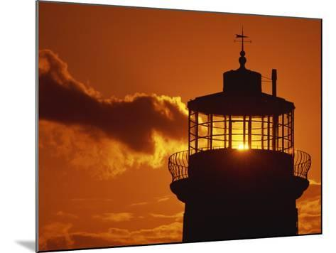 Sun Shining Through Lantern Room of Belle Tout, Beachy Head, Sussex, England, UK-Ian Griffiths-Mounted Photographic Print