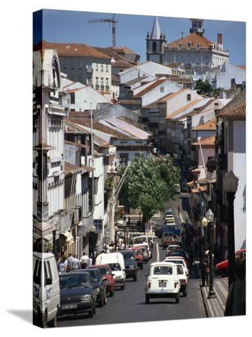 Main Street in Angra Do Heroismo, Terceira, Azores, Portugal, Atlantic, Europe-Ken Gillham-Stretched Canvas Print