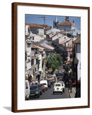 Main Street in Angra Do Heroismo, Terceira, Azores, Portugal, Atlantic, Europe-Ken Gillham-Framed Art Print