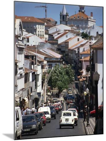 Main Street in Angra Do Heroismo, Terceira, Azores, Portugal, Atlantic, Europe-Ken Gillham-Mounted Photographic Print