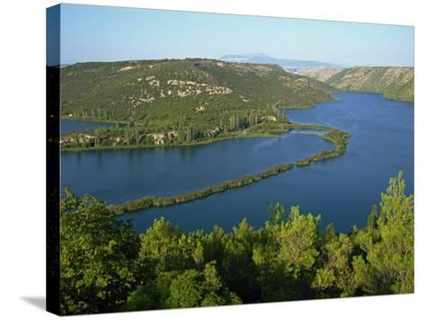 Lake and Wooded Hills in Krka National Park, Croatia, Europe-Ken Gillham-Stretched Canvas Print