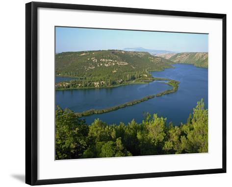 Lake and Wooded Hills in Krka National Park, Croatia, Europe-Ken Gillham-Framed Art Print