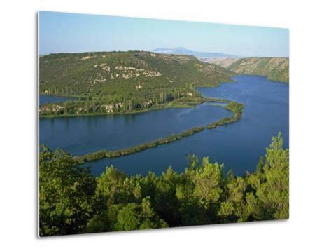Lake and Wooded Hills in Krka National Park, Croatia, Europe-Ken Gillham-Metal Print