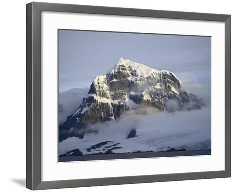 Snow Covered Coastal Mountain, Wiencke Island, Antarctic Peninsula, Antarctica, Polar Regions-James Hager-Framed Art Print