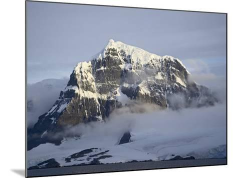 Snow Covered Coastal Mountain, Wiencke Island, Antarctic Peninsula, Antarctica, Polar Regions-James Hager-Mounted Photographic Print