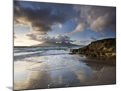 Isle of Rum from Singing Sands, Isle of Eigg, Inner Hebrides, Scotland, UK-Lee Frost-Mounted Photographic Print