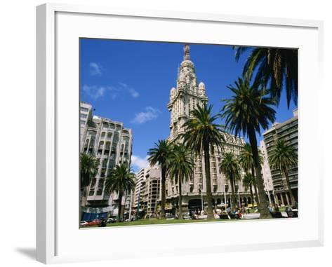 Street Scene in Montevideo, Uruguay, South America-Ken Gillham-Framed Art Print