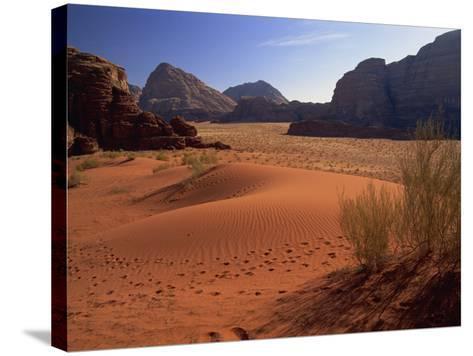Desert at Wadi Rum, Jordan, Middle East-Fred Friberg-Stretched Canvas Print