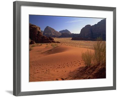 Desert at Wadi Rum, Jordan, Middle East-Fred Friberg-Framed Art Print