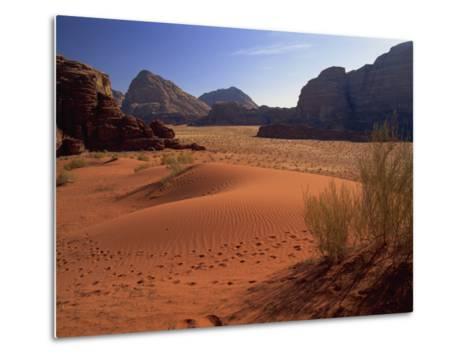 Desert at Wadi Rum, Jordan, Middle East-Fred Friberg-Metal Print