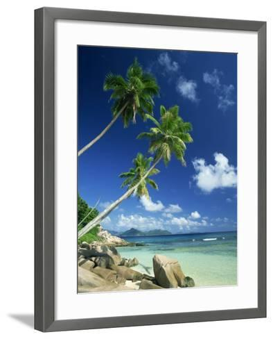 La Digue with Praslin Island in Background, Anse Severe, Seychelles, Indian Ocean, Africa-Lee Frost-Framed Art Print