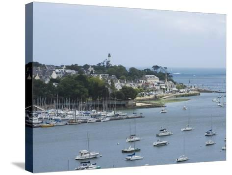 Benodet, a Popular Sailing Resort on the River Odet Estuary, Southern Finistere, Brittany, France-Amanda Hall-Stretched Canvas Print