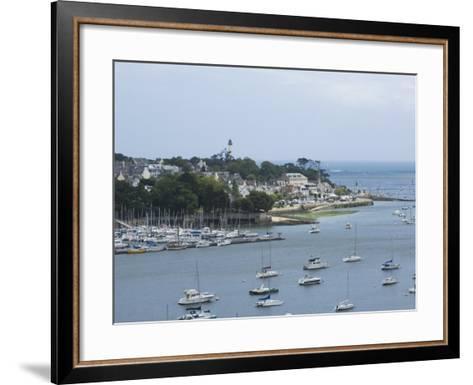 Benodet, a Popular Sailing Resort on the River Odet Estuary, Southern Finistere, Brittany, France-Amanda Hall-Framed Art Print