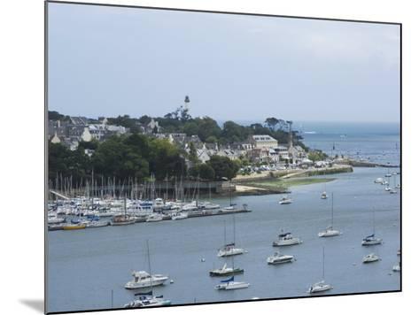 Benodet, a Popular Sailing Resort on the River Odet Estuary, Southern Finistere, Brittany, France-Amanda Hall-Mounted Photographic Print
