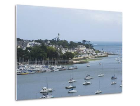 Benodet, a Popular Sailing Resort on the River Odet Estuary, Southern Finistere, Brittany, France-Amanda Hall-Metal Print