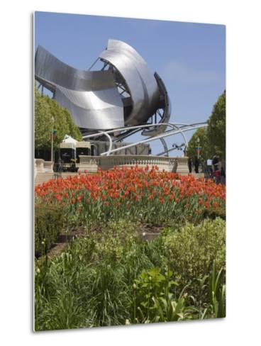 Jay Pritzker Pavillion Designed by Frank Gehry, Millennium Park, Chicago, Illinois, USA-Amanda Hall-Metal Print