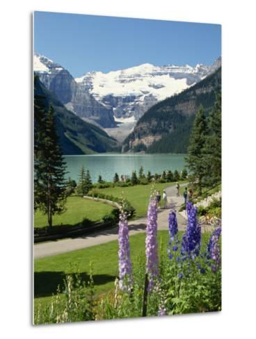Lake Louise, Banff National Park, UNESCO World Heritage Site, Rocky Mountains, Alberta, Canada-Robert Harding-Metal Print