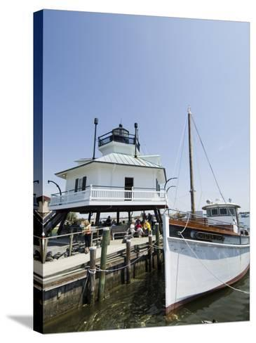 Chesapeake Bay Maritime Museum, Miles River, Chesapeake Bay Area, Maryland, USA-Robert Harding-Stretched Canvas Print