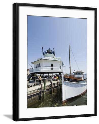 Chesapeake Bay Maritime Museum, Miles River, Chesapeake Bay Area, Maryland, USA-Robert Harding-Framed Art Print