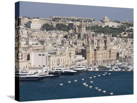 Grand Harbour and City of Vittoriosa Taken from Barracca Gardens, Valletta, Malta, Mediterranean-Robert Harding-Stretched Canvas Print
