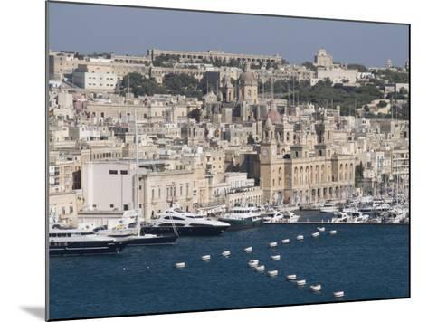 Grand Harbour and City of Vittoriosa Taken from Barracca Gardens, Valletta, Malta, Mediterranean-Robert Harding-Mounted Photographic Print