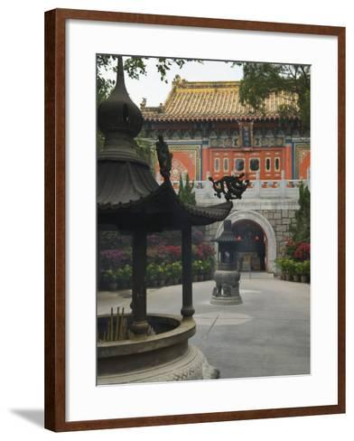 Po Lin Monastery, Lantau Island, Hong Kong, China-Amanda Hall-Framed Art Print