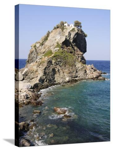 Church of Agios Ioannis, Used in the Film Mamma Mia, Skopelos, Sporades Islands, Greece-Robert Harding-Stretched Canvas Print