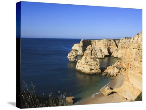 Praia Da Marinha, Algarve, Portugal, Europe-Amanda Hall-Stretched Canvas Print