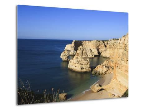 Praia Da Marinha, Algarve, Portugal, Europe-Amanda Hall-Metal Print