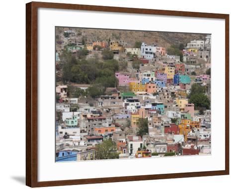 Colourful Buildings, Guanajuato, Guanajuato State, Mexico, North America-Robert Harding-Framed Art Print