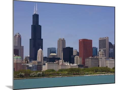 Sears Tower and Skyline, Chicago, Illinois, United States of America, North America-Amanda Hall-Mounted Photographic Print