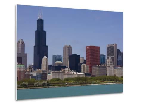Sears Tower and Skyline, Chicago, Illinois, United States of America, North America-Amanda Hall-Metal Print
