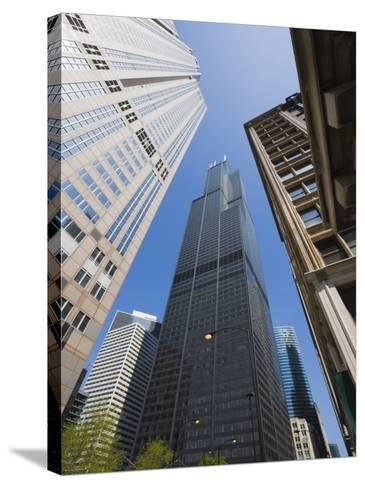 Sears Tower, Chicago, Illinois, United States of America, North America-Amanda Hall-Stretched Canvas Print