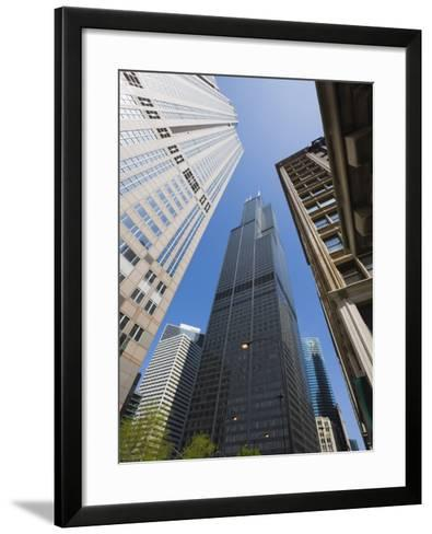 Sears Tower, Chicago, Illinois, United States of America, North America-Amanda Hall-Framed Art Print