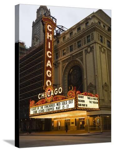 Chicago Theatre, Chicago, Illinois, United States of America, North America-Amanda Hall-Stretched Canvas Print