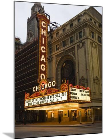Chicago Theatre, Chicago, Illinois, United States of America, North America-Amanda Hall-Mounted Photographic Print
